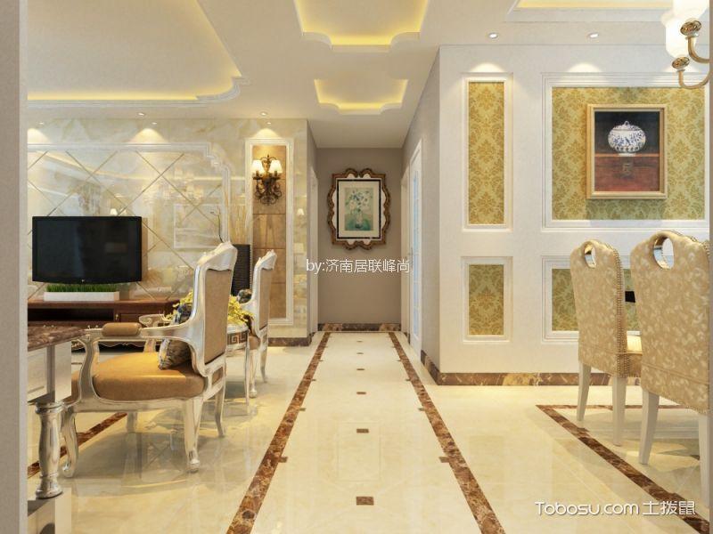 客厅 走廊_中海国际140平欧式风格三居室装修效果图