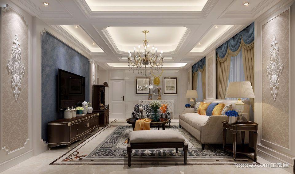 星河WORLD银湖谷120平欧式风格公寓装修效果图