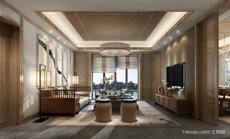 中粮云景国际100平中式风格公寓装修效果图