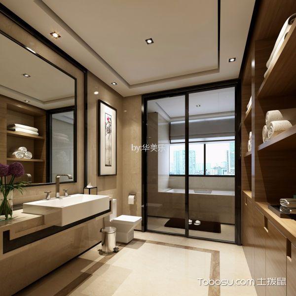 卫生间 吧台_中粮云景国际100平中式风格公寓装修效果图