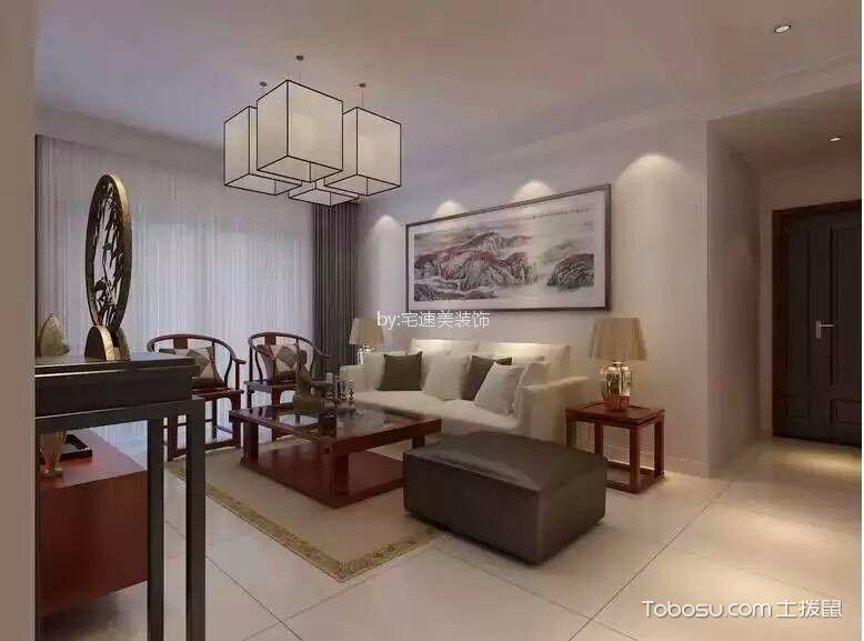 星海国际110平方中式风格三居室装修效果图