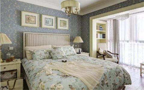 卧室飘窗田园风格装潢图片