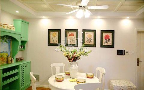餐厅吧台田园风格装饰设计图片