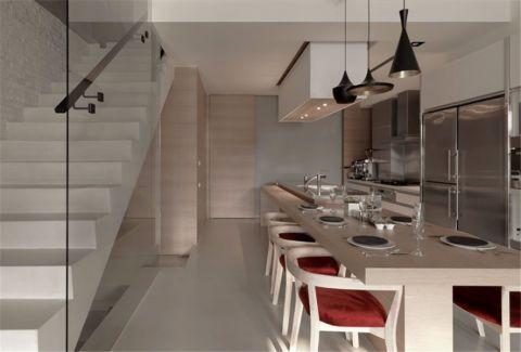 餐厅楼梯现代简约风格装饰图片