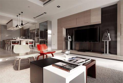 香开新城143平米现代简约风格四居室装修效果图