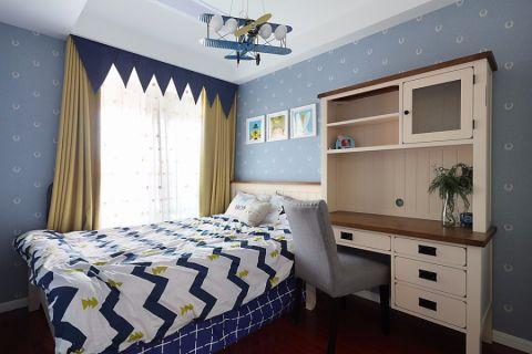 儿童房背景墙欧式风格装饰设计图片