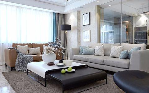 城市广场120平米现代风格三居室装修效果图