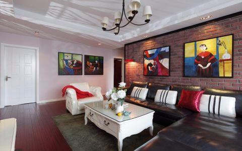 翡翠城89平米混搭风格两室两厅一卫装修效果图