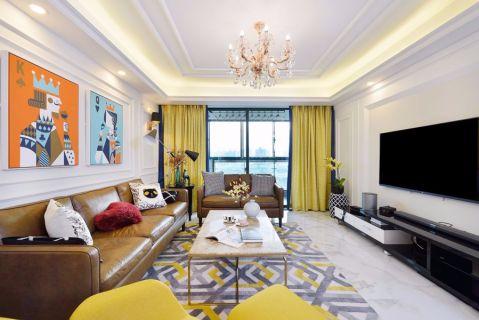 现代简约风格116平米楼房室内装修效果图