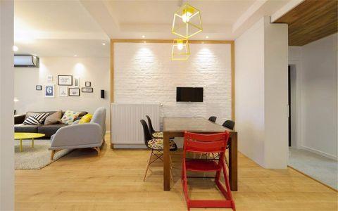 客厅吊顶北欧风格装潢效果图
