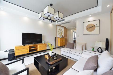 客厅窗帘新中式风格装饰设计图片