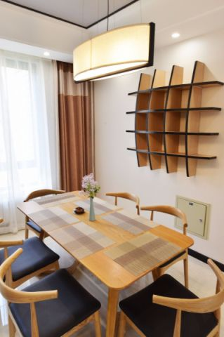 餐厅吧台新中式风格装潢设计图片