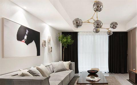碧湖新村85平北欧风格三居室装修效果图