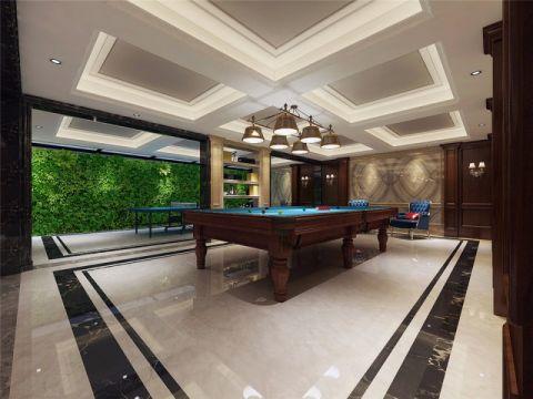 客厅健身房新中式风格装潢效果图