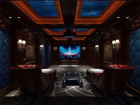 客厅地下室新中式风格装修设计图片