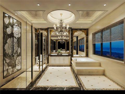 卫生间吊顶新中式风格装潢效果图