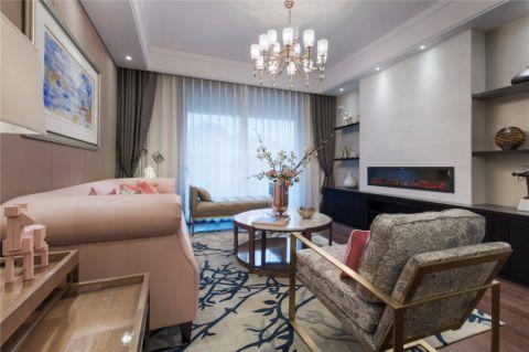 湖庭家和120平美式风格楼房装修效果图