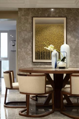 餐厅背景墙新中式风格装饰效果图