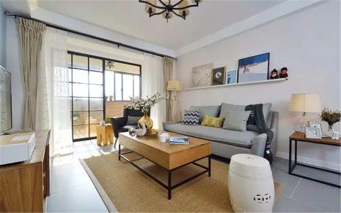 金沙泊岸100平混搭风格两居室装修效果图
