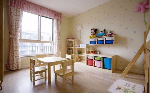 儿童房窗帘田园风格效果图