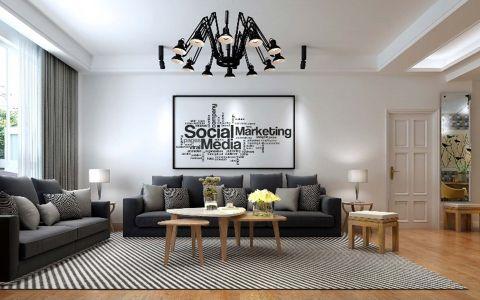禹州翡翠湖郡94平米现代风格三居室装修效果图