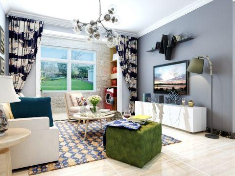 世茂原山首府118平北欧风格三居室装修效果图
