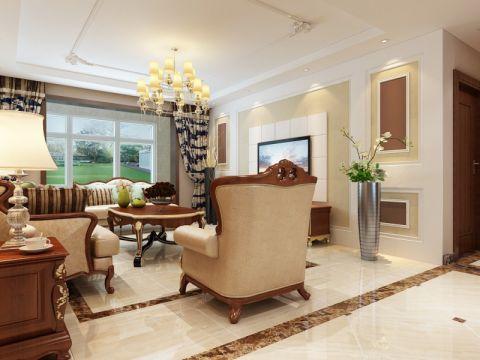 客厅窗台美式风格效果图