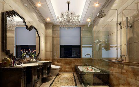 卫生间背景墙法式风格装饰图片