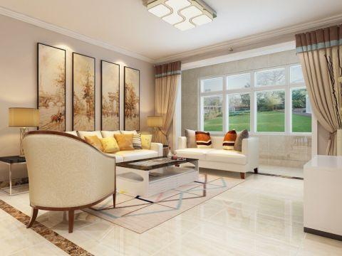 客厅窗台简欧风格装饰设计图片