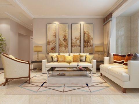 西城济水上苑178平简欧风格四居室装修效果图