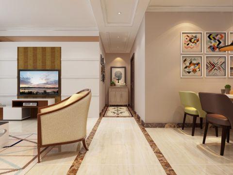 客厅走廊简欧风格装修效果图