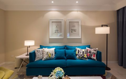 弘建一品120平混搭风格三居室装修效果图