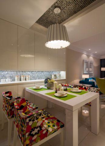 餐厅橱柜混搭风格装潢效果图
