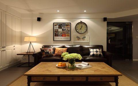 玉兰广场110平混搭风格三居室装修效果图