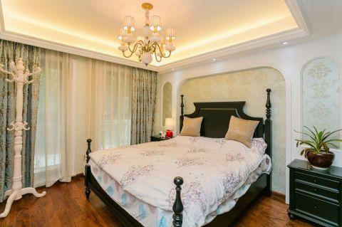 卧室背景墙美式风格装修效果图
