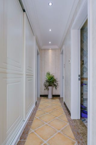 玄关走廊美式风格装饰图片