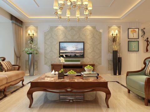 翡翠外滩169平欧式风格四居室装修效果图