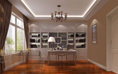 书房窗帘新中式风格装潢设计图片