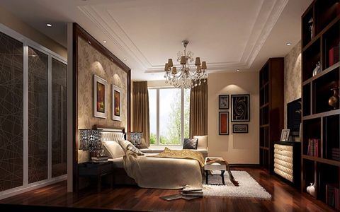 卧室背景墙新中式风格装修效果图