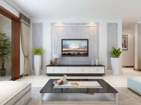 西城济水上苑140平现代简约三居室装修效果图