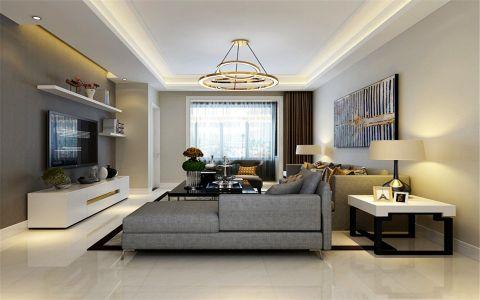 绿景未来城140平米现代简约风格三居室装修效果图