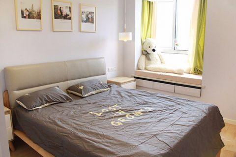 卧室照片墙北欧风格装饰效果图