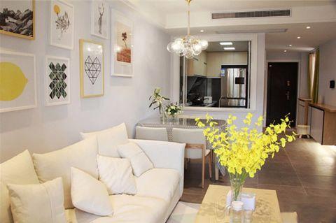 客厅沙发北欧风格装潢效果图