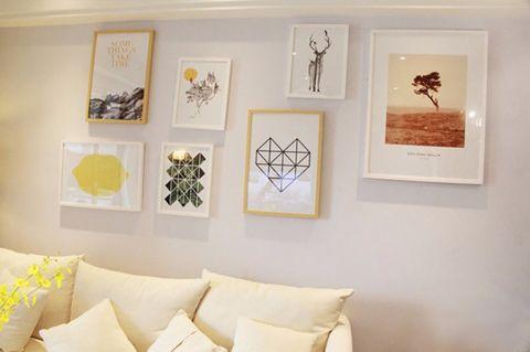 客厅照片墙北欧风格装饰图片