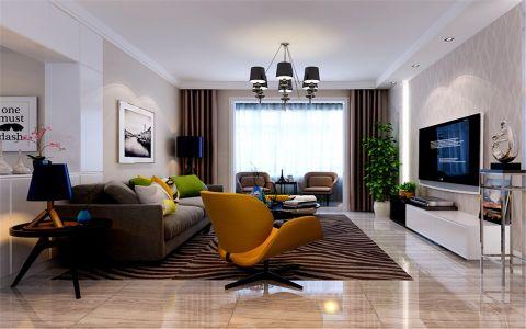 绿景未来城128平米现代简约风格三居室装修效果图
