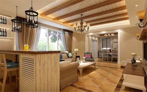 客厅橱柜美式风格效果图