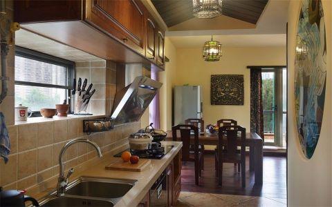 厨房橱柜东南亚风格装修图片