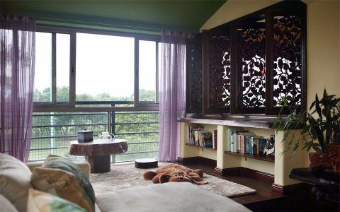 客厅背景墙东南亚风格装潢图片