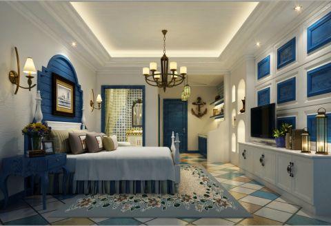 卧室窗台地中海风格装修效果图