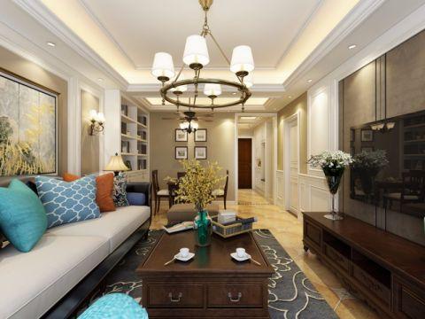 客厅走廊美式风格效果图